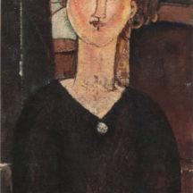 Modigliani Amedeo, Antonia, vers 1915, huile sur toile, 82 x 46 cm, musée de l'Orangerie, Paris