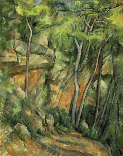 Cézanne Paul, Dans le parc de Château Noir, 1898 - 1900, Huile sur toile, 92 x 73 cm, Musée de l'Orangerie, Paris