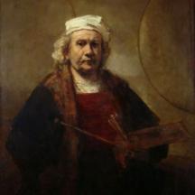 Rembrandt van Rijn, Auto-portrait au chevalet, 1660, huile sur toile, 111 x 90 cm, Musée du Louvre