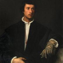 Tiziano Vecellio, dit le Titien, L'Homme au gant, 1520-1523, huile sur toile, 100 × 89 cm, Musée du Louvre, Paris