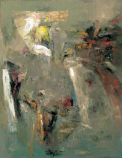 Jan Wroblewski, Attente, 2004, huile sur toile, 146 x 114 cm