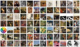 84 des 333 images chargées dans la bibliothèque de sur-la-peinture. com en novembre 2017