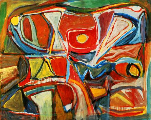 Bram Van Velde, Sans titre, Boulevard Edgard Quinet, 1965, huile sur toile, 199,5 x 250,5 cm, Musée national d'art moderne, Paris