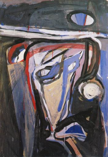 Bram van Velde, Sans titre, 1961, rue des Grands Augustins, Gouache, 112,5 x 77,5 cm, Collection particulière, Suisse