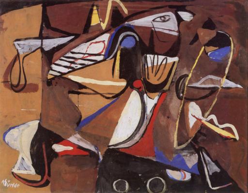 Bram van Velde, Sans titre, 1939, Montrouge, Gouache, 113 x 145 cm, Staatsgalerie, Stuttgart