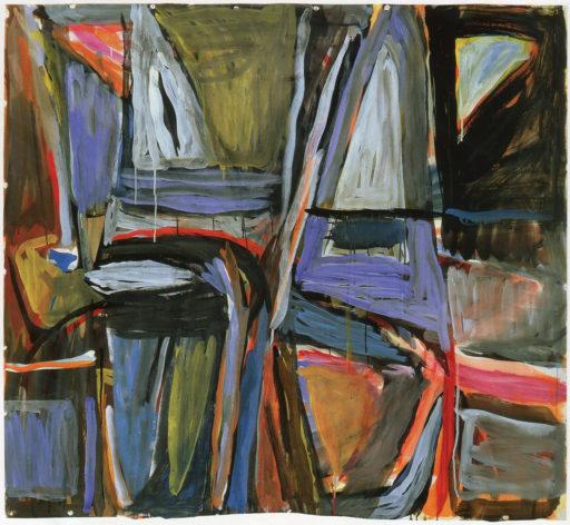 Bram van Velde, sans titre, La chapelle-sur-Carouge, 1973, Gouache sur chiffon, 137 x 148,5 cm, Musée d'art et d'histoire, Fondation Maeght, Saint-Paul-de-Vence