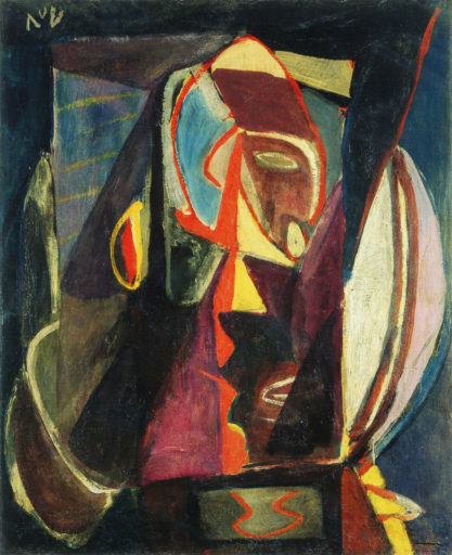 Bram van Velde, sans titre, Montrouge, 1937, technique mixte, 98 x 79 cm, Musée d'art et d'histoire, Genève