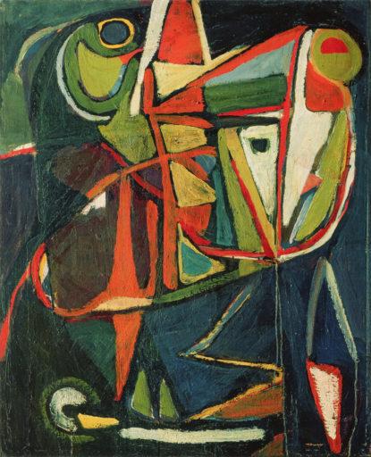 Bram van Velde, sans titre, Montrouge, 1951, huile sur toile, 100,2 x 81,6 cm, collection particulière, Genève