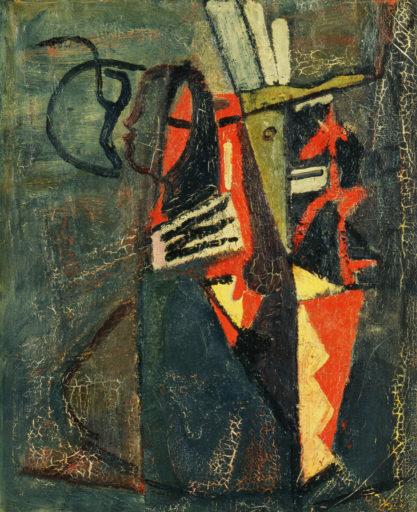 Bram van Velde, Peinture, Montrouge, 1937, huile sur toile, 100 x 81 cm, Musée national d'Art moderne, Paris