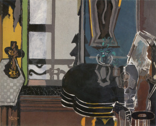 Braque George, Le salon, 1944, huile sur toile, 120,5 x 150,5 cm, Centre National d'art moderne, Paris