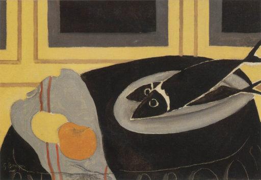 Braque George, Les poissons noirs, 1942, huile sur toile, 33 x 55,5 cm, Centre National d'art moderne, Paris