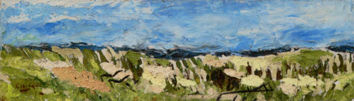 Braque George, Paysage, 1959, huile sur toile, 21 x 73 cm, Fondation Maeght, Saint-Paul de Vence