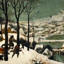 Bruegel Pieter, Les chasseurs dans la neige, 1565, huile sur bois, 117 × 162 cm, Kunsthistorisches Museum, Vienne
