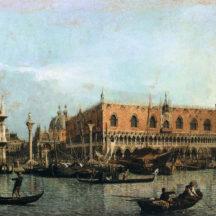Canaletto, Le Molo et la Piazzetta San Marco, huile sur toile, 47 x 81 cm, Musée du Louvre, Paris