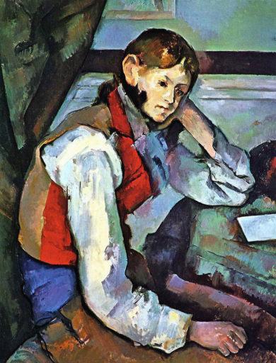 Cézanne Paul, Garçon à la veste rouge, 1888-90, huile sur toile, 79,5 × 64 cm, Fondation et Collection Bührle