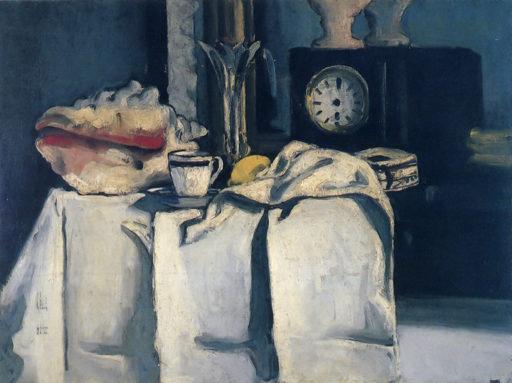 Cézanne Paul, La pendule noire, vers 1870, huile sur toile, 55 x 74 cm, collection particulière