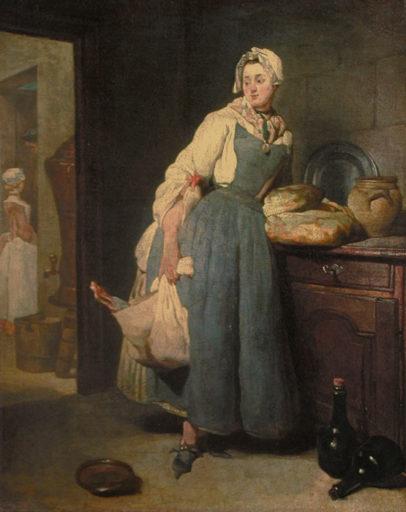 Chardin Jean-Baptiste, La pourvoyeuse, 1739, huile sur toile, 47 x 38 cm, Musée du Louvre, Paris