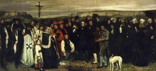 Courbet Gustave, Un enterrement à Ornans, 1849-1850, huile sur toile, 315 × 668 cm, Musée d'Orsay, Paris