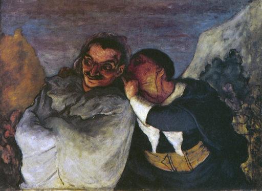 Daumier Honoré, Crispin et Scapin, vers 1858-1860, huile sur toile, 60,5 x 82 cm, musée d'Orsay Paris