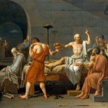 David Jacques-Louis, La Mort de Socrate, 1787, huile sur toile, 133 x 196 cm, Metropolitan Museum of Art, New York