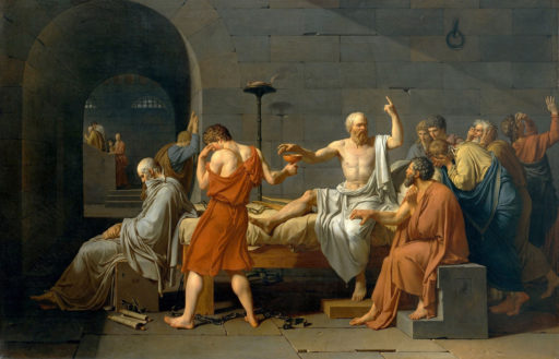 David Jacques-Louis, La Mort de Socrate, 1787, huile sur toile, 133 x 196 cm, Metropolitan Museum of Art, New York