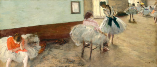Edgar Degas, La leçon de danse, 1879, 38 x 88 cm, National Gallery of Art, Washington