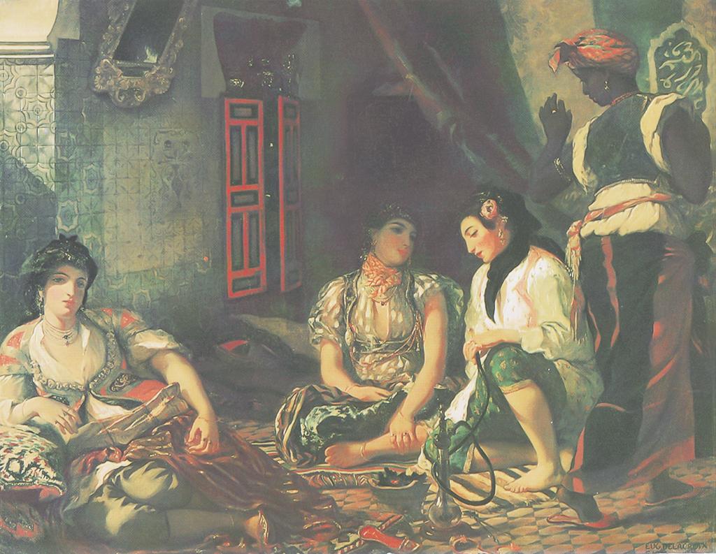 Delacroix Eugène, Femmes d'Alger dans leur appartement, 1834, huile sur toile, 180 x 229 cm, Musée du Louvre, Paris