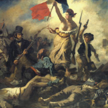 Eugène Delacroix, La liberté guidant le peuple, 1830, 325 x 260 cm, huile sur toile, Musée du Louvre, Paris