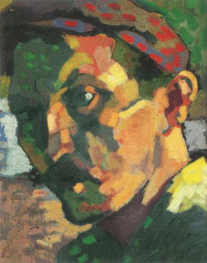 Derain André, Autoportrait à la casquette, 1905-1906, Collection particulière