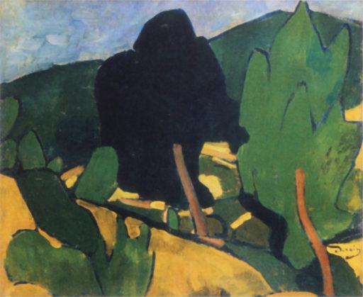 André Derain, Vue de Cassis, 1907, huile sur toile, 54 x 64 cm, musée d'Art moderne, Troyes, France