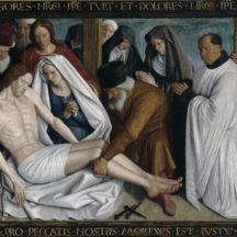 Fouquet Jean, Pietà de Nouans, vers 1460-1465, huile sur bois, 168 × 259 cm, Église Saint-Martin de Nouans-les-Fontaines