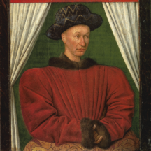 Fouquet Jean, Portrait de Charles VII, vers 1450-1455, huile sur bois, 86 x 72 cm, Paris, Louvre
