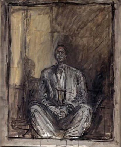 Alberto Giacometti, Jean Genet, 1955, 73 x 60 cm, Centre national d'art moderne, Paris