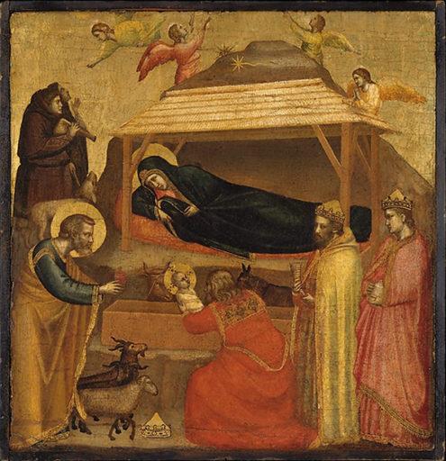 Giotto di Bondone, L'adoration des Mages, 1320, Tempera sur bois, fond d'or, 45,1 x 43,8 cm, Metropolitan Museum of Art, New York
