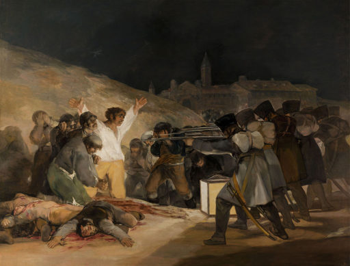 Francisco de Goya, Le trois mai 1808 à Madrid, 1814, huile sur toile, 268 × 347 cm, Musée du Prado, Madrid