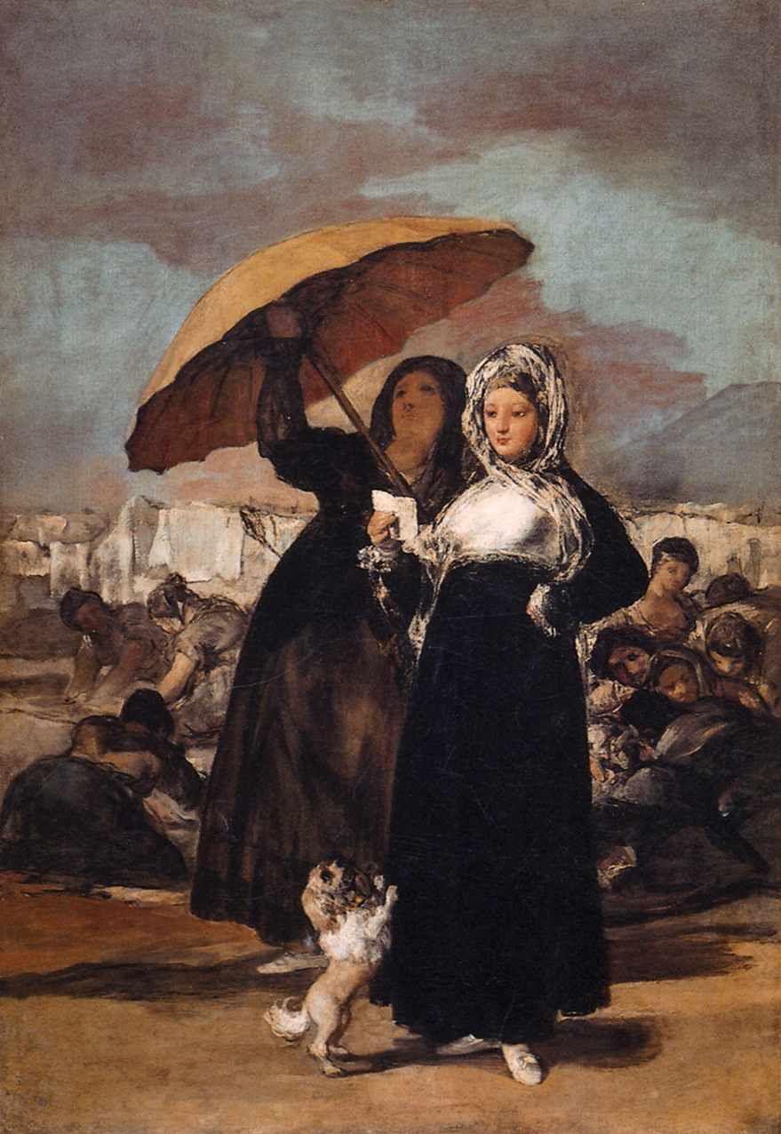 Goya, Francisco de Goya, Les jeunes, huile sur toile, 181 × 122 cm, Musée des Beaux-Arts, Lille