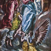 Le greco, Assomption, L'Immaculée conception de la chapelle Oballe, 348 x 174,5 cm, Musée Santa Cruz, Tolède