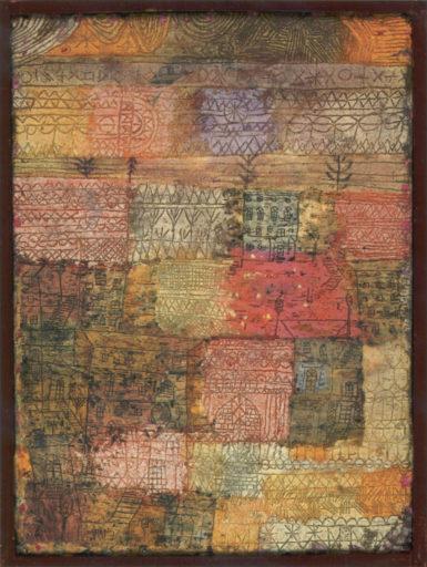 Klee Paul, Villas florentines, 1926, huile sur carton, 49,5 x 36,5 cm, Musée national d'art moderne, Paris