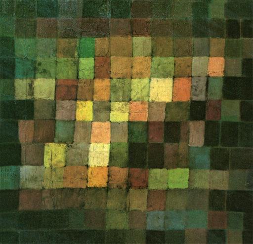 Klee Paul, Sonorité ancienne, 1925, huile sur carton, 38 x 38 cm, Öffentliche Kunstsammlung, Bâle