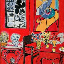 Matisse Henri, Grand intérieur rouge, 1948, huile sur toile, 146 x 97 cm, centre Georges Pompidou, Paris