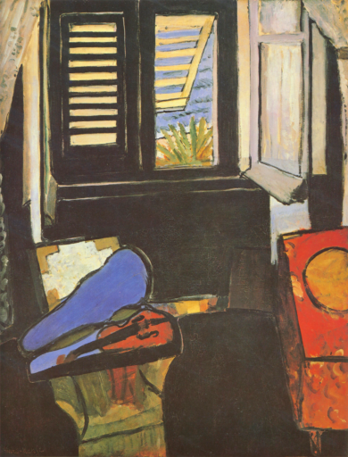Matisse Henri, Intérieur au violon, 1918, huile sur toile, 116 x 89 cm, Museum for Kunts, Copenhague