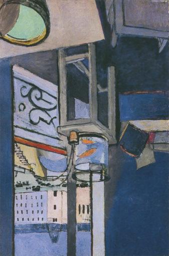 Matisse Henri, Le bocal de poissons rouges, 1914, huile sur toile, 147 x 97 cm, Musée national d'art moderne, Paris