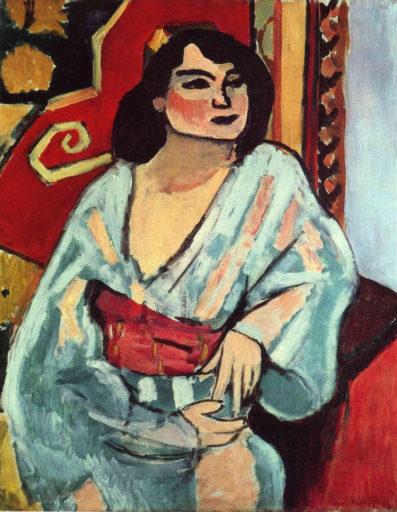 Matisse Henri, L'Algérienne, 1909, huile sur toile, 81 x 65 cm, Centre pompidou, Paris