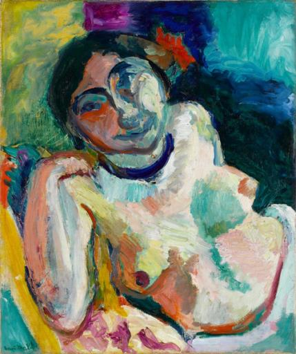Matisse Henri, La gitane, 1905, huile sur toile, 55 x 46 cm, Centre National d'Art Moderne, Paris