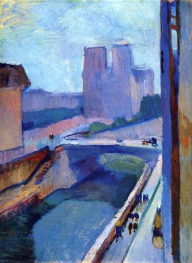 Matisse Henri, Notre-Dame, une fin d'après-midi, 1902, huile sur papier, 72,5 cm × 54,5 cm, Albright-Knox Art Gallery, Buffalo
