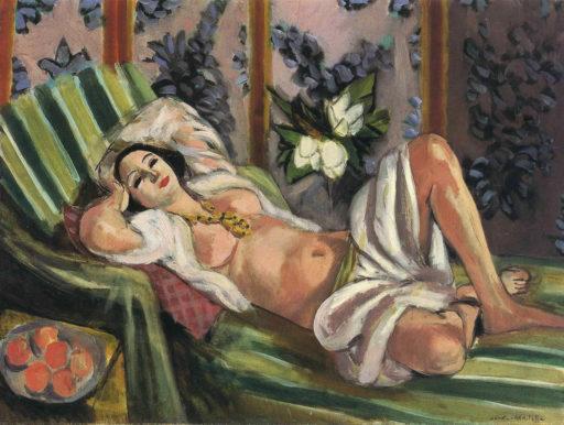 Matisse Henri, Odalisque avec magnolias, 1923-1924, huile sur toile, 65 x 81 cm, Collection particulière