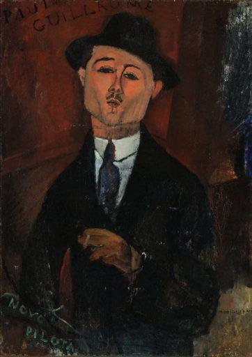 Modigliani Amedeo, Paul Guillaume, Novo Pilota, 1915, huile sur carton collé, 105 x 75 cm, Musée de l'Orangerie, Paris