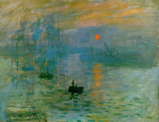Monet Claude, Impression, soleil levant, 1872, huile sur toile, 48 x 63 cm, musée Marmottan, Paris
