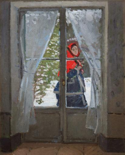 Monet Claude, La Capeline rouge, portrait de Madame Monet, 1873, huile sur toile, 100 x 80 cm, Museum of Art, Cleveland, Ohio