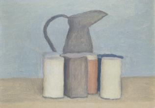 Morandi Giorgio, Nature morte au vase, 1960, Huile sur toile, 40 × 30 cm, Galleria Comunale d'Arte Moderne, Bologne
